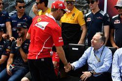 Sebastian Vettel, Ferrari en Jean Todt, FIA-president