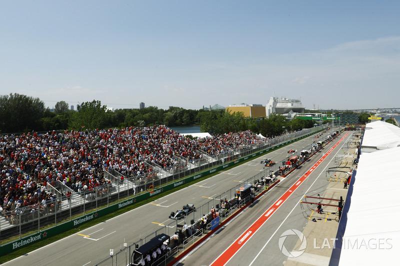 Lewis Hamilton, Mercedes AMG F1 W08, Max Verstappen, Red Bull Racing RB13, Valtteri Bottas, Mercedes AMG F1 W08 y Sebastian Vettel, Ferrari SF70H