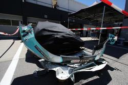 Разбитый автомобиль Роба Хаффа