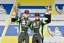 GTD podium: first place Corey Lewis, Jeroen Mul, Change Racing