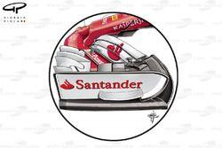 Ferrari SF70H front wing endplate, Belgium GP