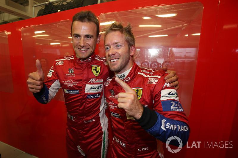 GTE Ganadores de la pole Davide Rigon, Sam Bird, AF Corse
