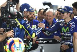 2.  Valentino Rossi, Yamaha Factory Racin; 1. Maverick Viñales, Yamaha Factory Racing