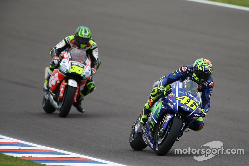 Valentino Rossi, Yamaha Factory Racing; Cal Crutchlow, Team LCR Honda