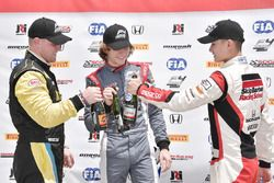 Podium: winner Raphael Forcier, Indy Motorsport Group, second place Timo Reger JDX Racing ,third place Ben Waddell, JDX Racing