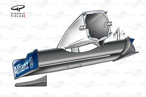 Williams FW23 2001 nose rear view