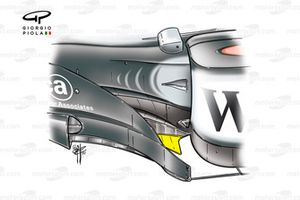 McLaren MP4-17 2002 Monaco bargeboard development