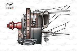 Configuration des freins avant de la McLaren MP4-16