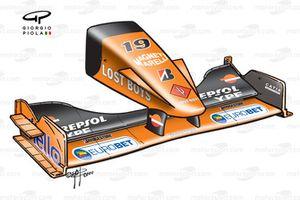 Arrows A21 2000 Hungarian GP nose