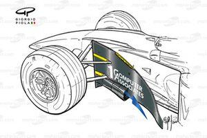 McLaren MP4-15 2000 bargeboard