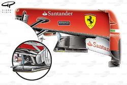 Ferrari F10 new splitter (old, inset)