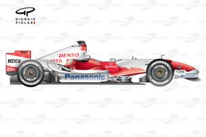 Toyota TF107 2007 side view