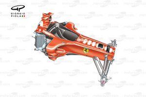 Châssis de la Ferrari F2005, sans publicité pour le tabac