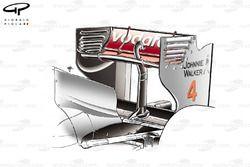 McLaren MP4/26 rear wing, Monaco GP