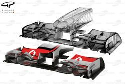 McLaren MP4/26 wireframe and rendered nose
