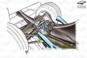 Jordan EJ14 2004 rear suspension detail