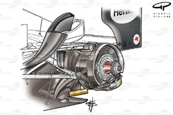 McLaren MP4-19 rear brake assembly