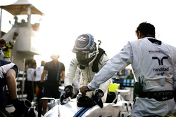 Valtteri Bottas, Williams, on the grid