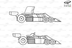 Tyrrell P34 1976 six-wheeler variations