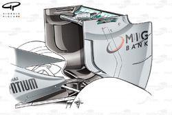 Mercedes W04 rear wing, Italian GP