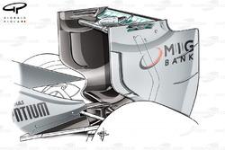 Aileron arrière de la Mercedes W04, Italie