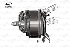Воздухозаборник передних тормозов Mercedes F1 W07