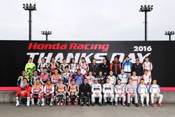 Honda Racing Thanks Day 2016, foto di gruppo