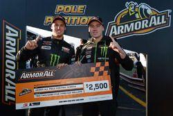 Polesitters Cam Waters, Richie Stanaway, Prodrive Racing Australia