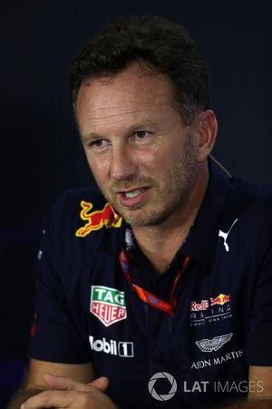 Christian Horner, director de Red Bull Racing en la Conferencia de prensa