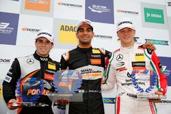Rookie Podium: Winner Jehan Daruvala, Carlin, Dallara F317 - Volkswagen , second place Joey Mawson, Van Amersfoort Racing, Dallara F317 - Mercedes-Benz, third place Mick Schumacher, Prema Powerteam, Dallara F317 - Mercedes-Benz