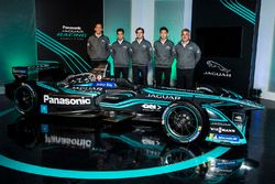 Mitch Evans, Nelson Piquet Jr, Ho-Pin Tung, Jaguar Racing