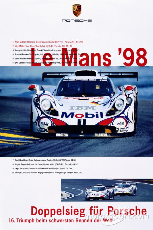 Poster: Porsche-Sieg bei den 24h Le Mans 1998
