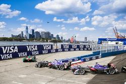 Daniel Abt, ABT Schaeffler Audi Sport ve Alex Lynn, DS Virgin Racing, ve Sam Bird, DS Virgin Racing