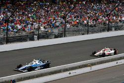 Max Chilton, Chip Ganassi Racing Honda, James Davison, Dale Coyne Racing Honda