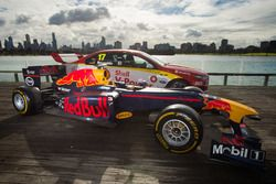 Red Bull Formula 1 car and Shell V-Power Supercar
