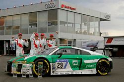 Race winner #29 Audi Sport Team Land-Motorsport, Audi R8 LMS: Christopher Mies, Connor De Phillippi,