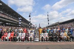 The starting field poses for a class photo