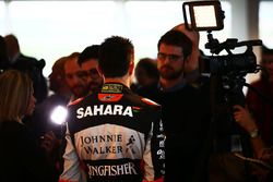 Esteban Ocon, Sahara Force India F1 Team with the media