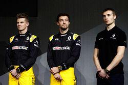 Nico Hulkenberg, Renault Sport F1 Team Jolyon Palmer, Renault Sport F1 Team and Sirotkin