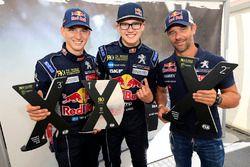 2. Sébastien Loeb, Team Peugeot Hansen, 3. Timmy Hansen, Team Peugeot Hansen ve Kevin Hansen, Peugeot Hansen Academy
