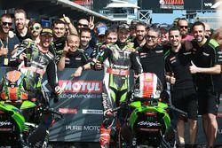 Jonathan Rea, Kawasaki Racing, vainqueur de la Course 1