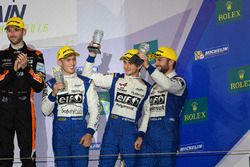 LMP2 Podium: third place #36 Signatech Alpine A460: Gustavo Menezes, Nicolas Lapierre, Stéphane Richelmi