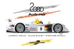 Audi R8, Laurent Aiello, Allan McNish, Stéphane Ortelli