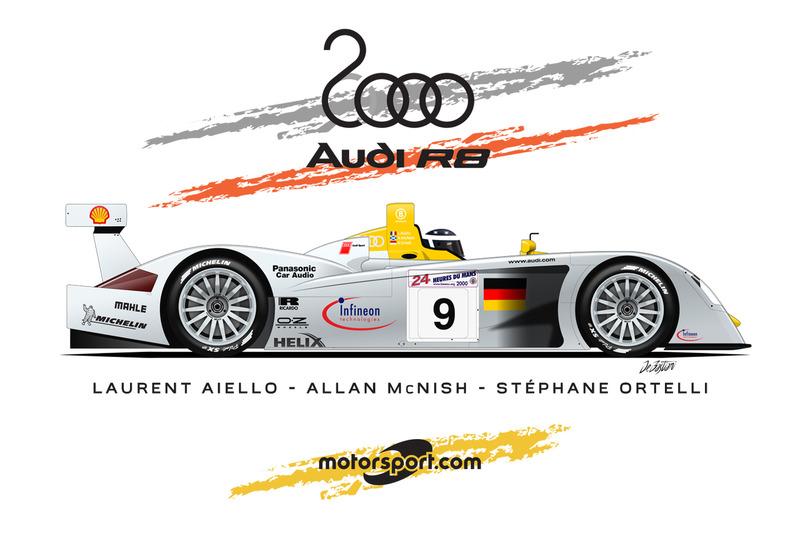 Audi R8, Laurent Aiello, Allan McNish, Stéphane Ortelli