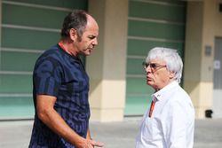 Gerhard Berger mit Bernie Ecclestone