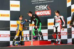 Podyum: SSP300: Yarış galibi Scott Deroue, MTM HS Kawasaki, 2. Daniel Valle, Halcourier Racing, 3. M