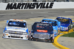 Johnny Sauter, GMS Racing, Chevrolet; Christopher Bell, Kyle Busch Motorsports, Toyota