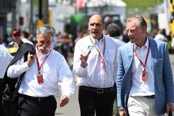 Chase Carey, Chief Executive Officer and Executive Chairman of the Formula One Group, Bruno Michel,