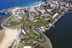 Rendering del Newcastle street circuit