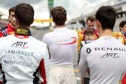 Les pilotes GP3 sur la grille